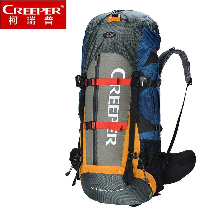 Creeper hommes grande capacité sacs à dos Nylon 60L sac de voyage Zipper étanche loisirs sac à dos sac à bandoulière