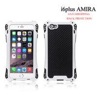 AMIRA Waterproof Shockproof Carbon Fiber Gorilla Metal Aluminum Gorilla Glass Armor Case Cover For Iphone 5