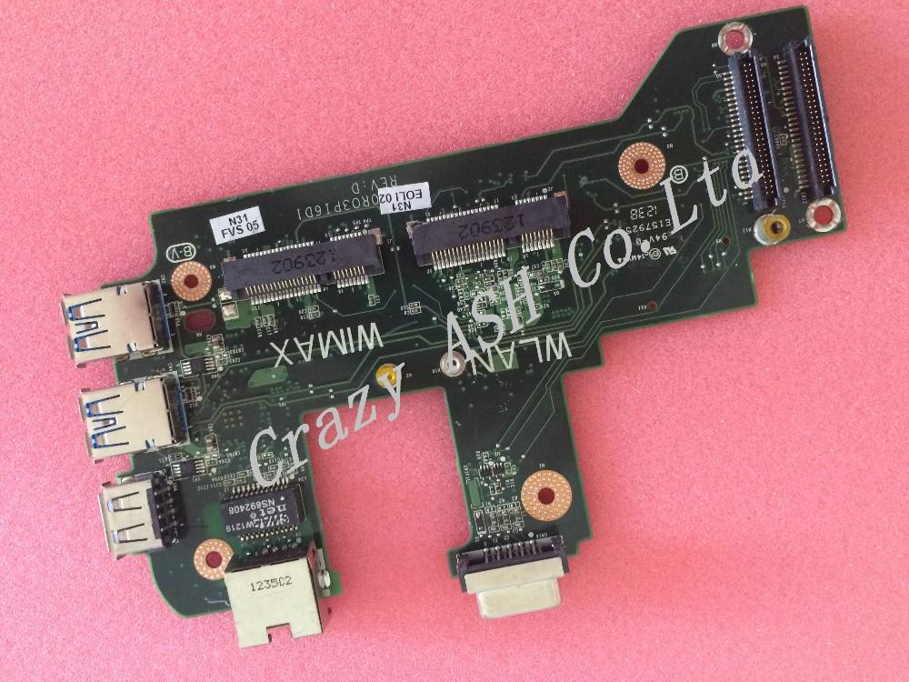 For Dell inspiron N7110 17R Vostro 3750 0NVJ4 CY4GM USB Board Ethernet NIC Audio WIFI Lan Card DA0R03PI6D0 REVD