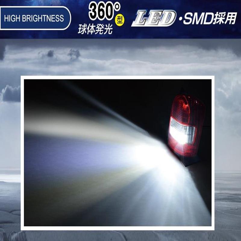 T16 18SMD LED Reverse Lights Back Lights Automobiles External Lights Super Bright White Bulbs 6000K DC 10V 36V