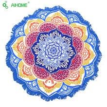 Indio Mandala Impresión Toalla de Playa Toalla de Playa Grande de Loto Ronda Piscina Casa Ducha Toalla Manta 150 Cm