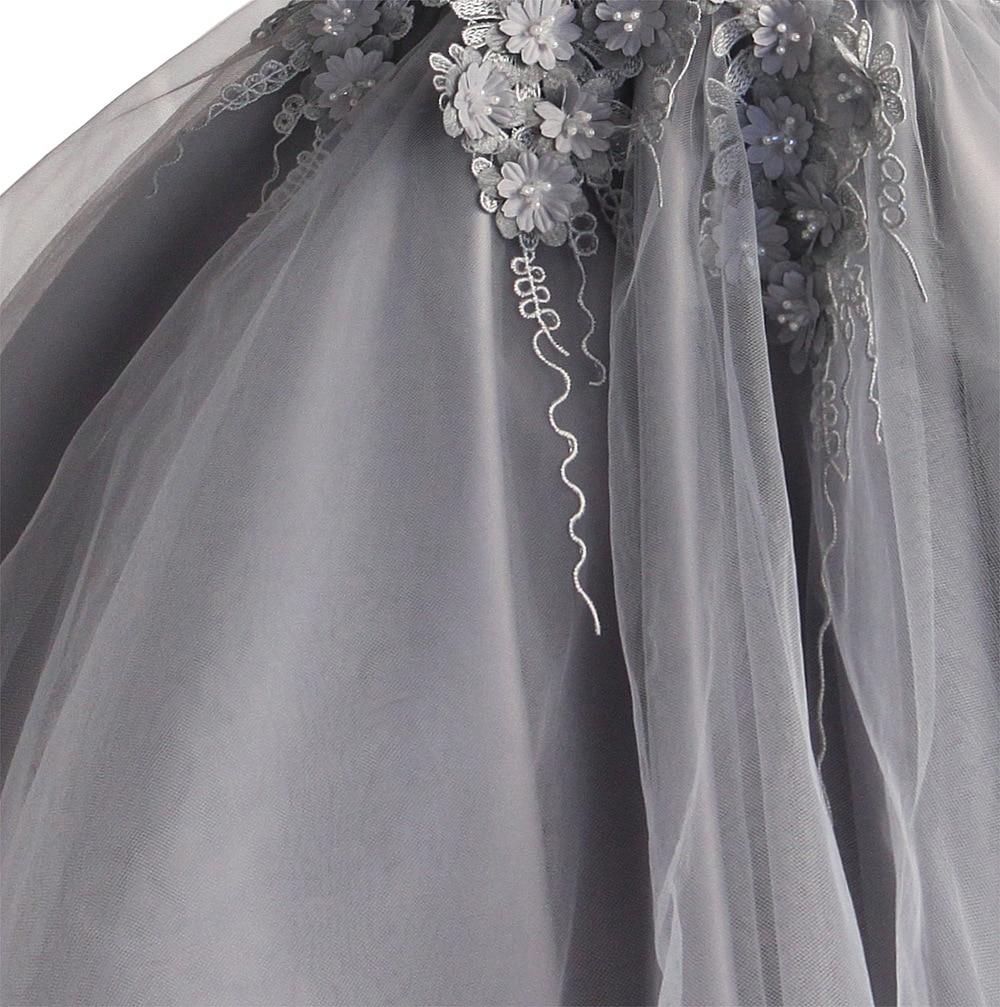 Robe de fleur de mariage de filles pour la robe de dentelle de fête d'anniversaire de princesse robe d'été de Costume de boutique d'enfants [Yelaumoky] - 3