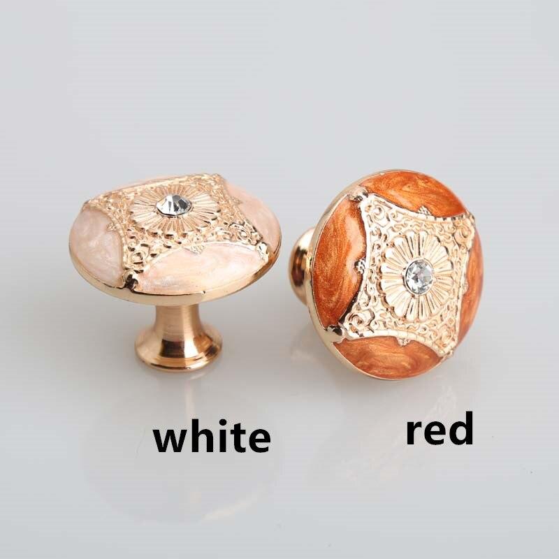 Kitchen Cabinet Pulls Handles Rose Gold Drawer Knobs Red