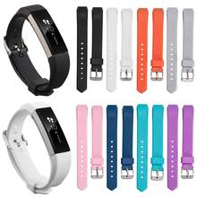 Repuesto de silicona blanda para reloj Fitbit Alta / Alta HR/Ace, pulsera inteligente ajustable para niños