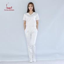 Korean version of plastic surgery hospital nurse suit dental technician beauty salon uniform