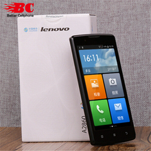 Original Lenovo A2860 Cell Phone Quad Core MTK6735 512MB RAM 4G ROM Android 4.4  4.5″ 854×480 5.0MP Dual Micro SIM GSM 2G GPS