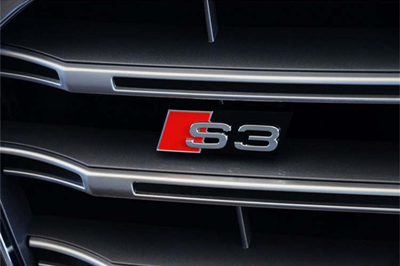 3D S3 Logo Car Styling Front Hood Grille Emblem Badge Stickers/Rear Emblem for Audi A3 S3 S