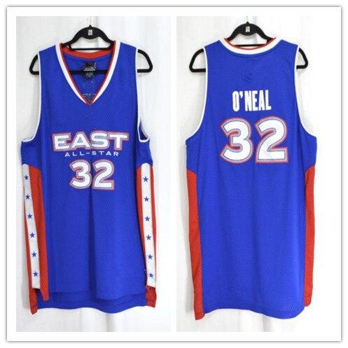 #32 Shaquille O'Neal 2005 All Star rétro retour maillot de basket broderie cousu personnaliser tout nom et numéro