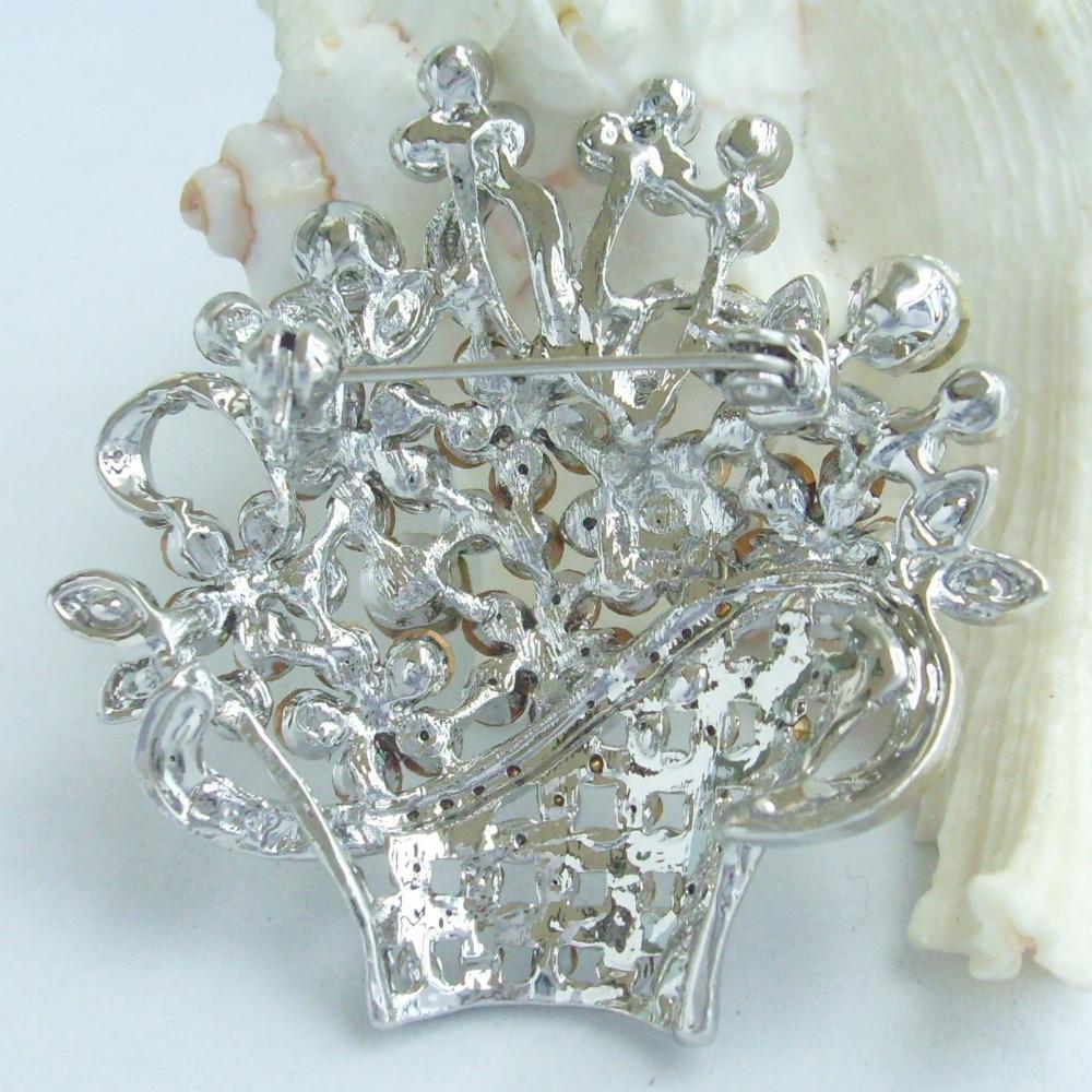 Свадебная со стразами брошь в форме цветка со стразами Pin ювелирные изделия для невесты EE04213C1
