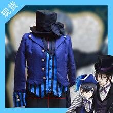 Anime cosplay Butler negro Ciel Phantomhive Halloween partido Unisex diario  Funeral ropa cosplay uniforme a2f3d3856b3a