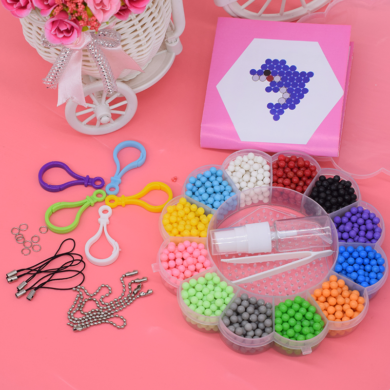 2000pcs Water Beads Toys For Children Pegboard Girls Gift Orbits Diy Bead Set Fine Motor Skills Needlework Creativity
