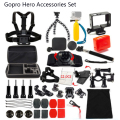 Gopro Accessories Set Helmet Harness Chest Belt Head Mount For Go pro Hero 4/3+/3/2/1 SJCAM Xiaomi yi sj4000 Sports Camera