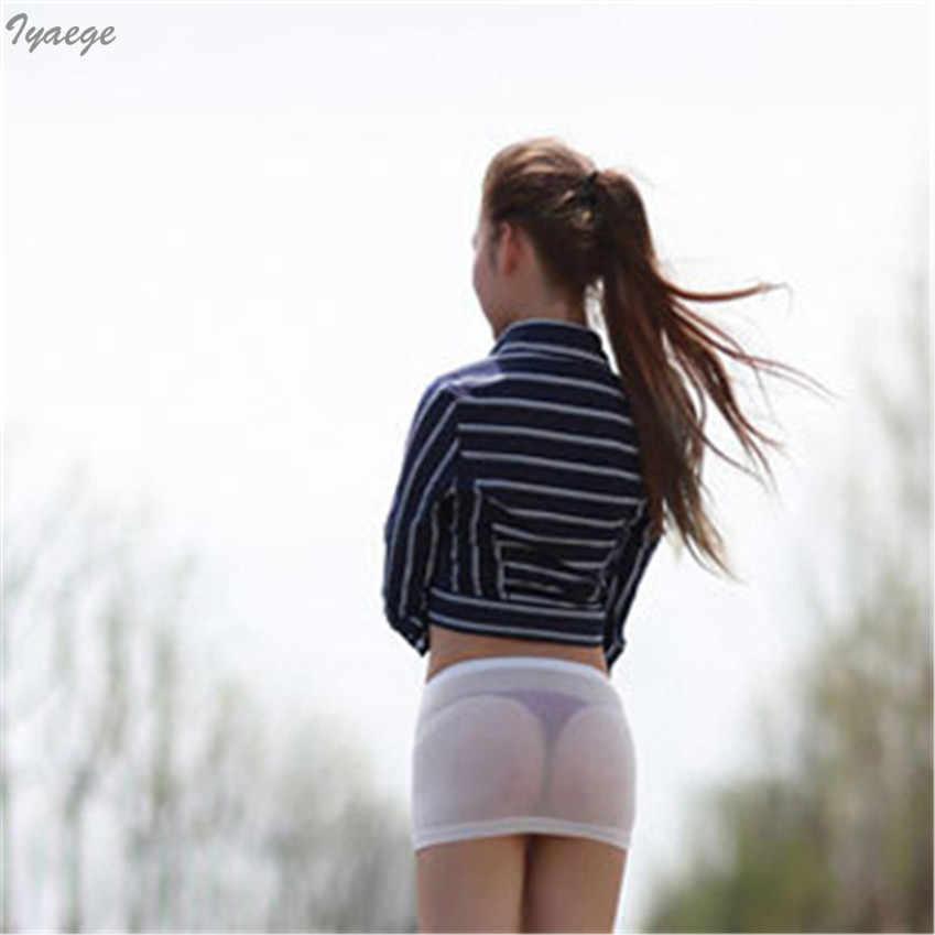 dcea674ff Mini falda transparente para mujer, minifalda para club nocturno, minifalda  para mujer