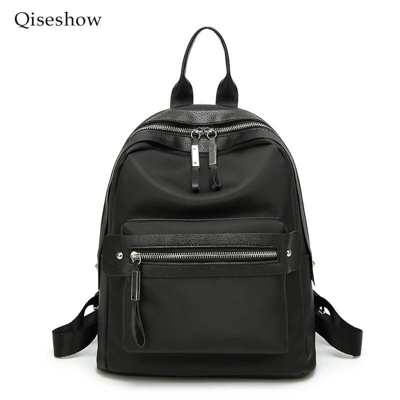 ФОТО 2017 Women Backpack Waterproof oxford Student School Bags Girl Backpacks Female Casual Travel Bag Ladies mochila Qiseshow