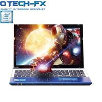 15.6 i7 Game Laptop 8GB RAM SSD 64GB / 240GB +750GB HDD Business Large DVD Metal WIFI Arabic AZERTY Spanish Russian Keyboard