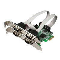 Steady PCI E PCI Express To 4 Ports RS232 9Pin COM DB9 Serial Expansion I O