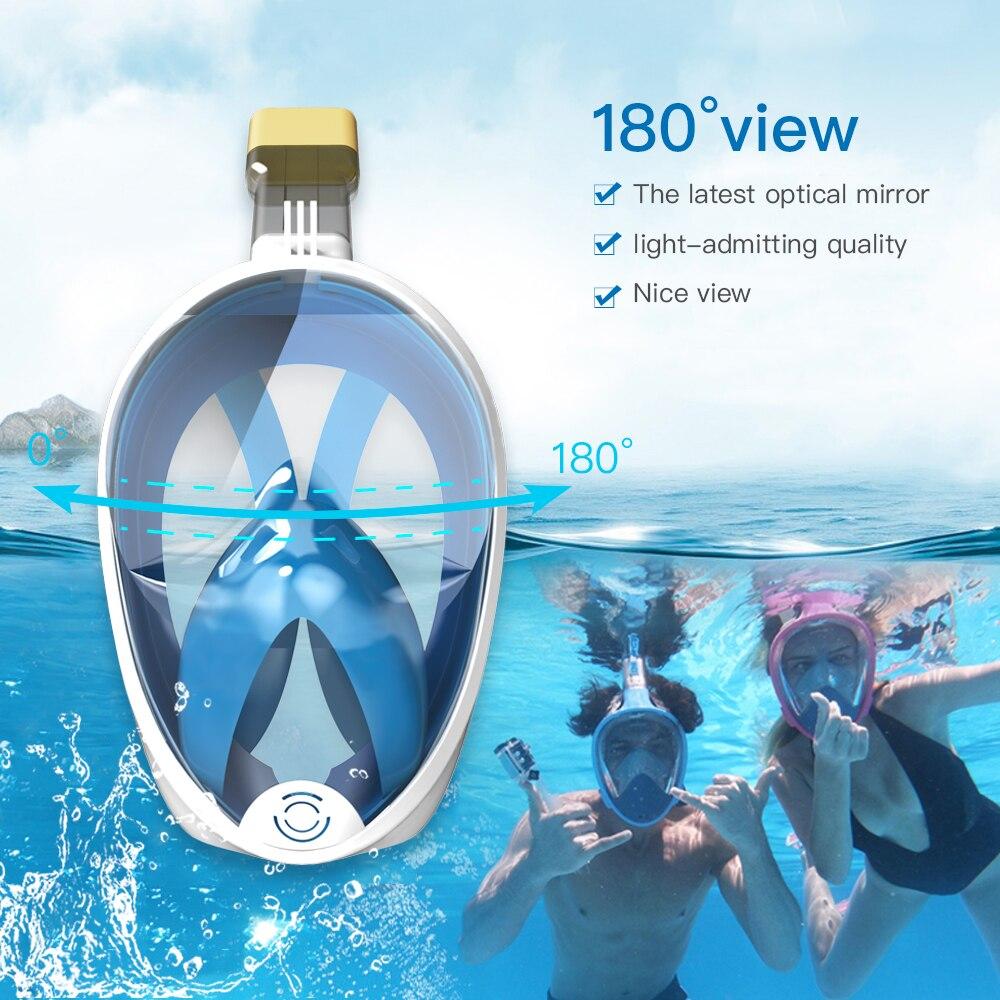 Diving Mask Underwater Anti fog panoramic Full Face Snorkel Mask Women Men Kids Swimming Mask Snorkeling Mask Scuba Glasses 3