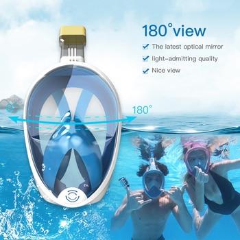 Diving Mask Underwater Anti fog panoramic Full Face Snorkel Mask Women Men Kids Swimming Mask Snorkeling Mask Scuba Glasses 8