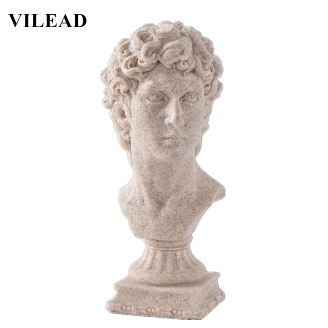 US $8 63 40% OFF VILEAD David Statues 5 5'' Nature Sand Stone David  Figurines Miniatures Statuettes Vintage Home Decor Souvenirs Creative  Gifts-in