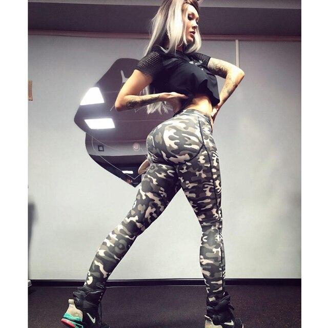 Yienws 2017 Новая Мода Камуфляж Леггинсы Женские Брюки Печати Pantalones Mujer Уличный Стиль Jogger Штаны Женщин CC8026