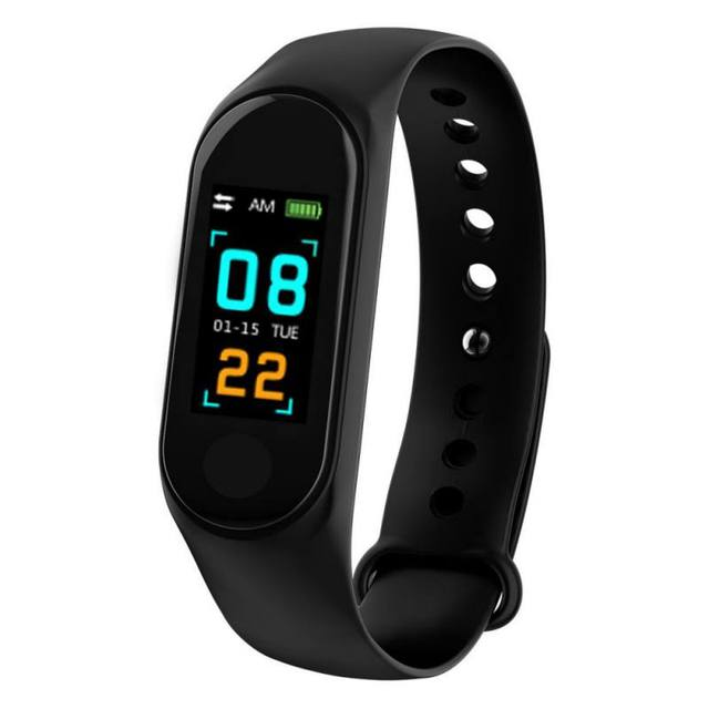 Цветной ЖК экран M3 смарт браслет монитор сердечного ритма кровяное давление фитнес трекер Смарт браслет для спорта PK mi Band 3