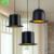 Moderno de alumínio preto forma chapéu salão luminária e27 suporte da lâmpada da sala de jantar/café casa iluminação interior free grátis