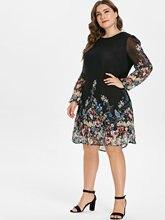 Women's Long Sleeves Printed Dress