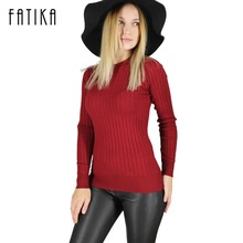 FATIKA Women's Sweaters And Pullovers Female Solid Wool Pullover Knitted Casual Oversized Pull Femme Sweater
