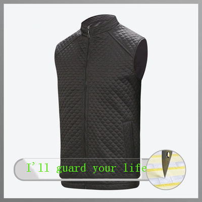 Soft And Flexible Puncture Proof Quilted Vest Cut Proof Clothing Lightweight Invisible Proof Vest Breathable In Summer