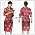 Los nuevos Mens rayon silk Robe pijama camisón de la ropa interior del vestido del Kimono ropa de dormir dragón chino tradicional de impresión de 6 colores #3798