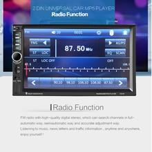 2 DIN 7 Pulgadas de Pantalla Táctil de HD LCD Digital de Coche Bluetooth Estéreo MP5 Reproductor de Radio FM/TF/USB/SD de la Ayuda Del Volante Control