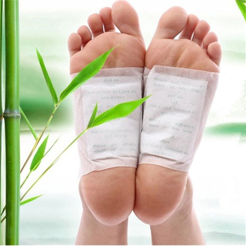 20pcs=(10pcs Patches+10pcs Adhesives) Foot  Detox Medical Foot Patches Herbal Plasters Weight Lose Feet Slimming Cleansing