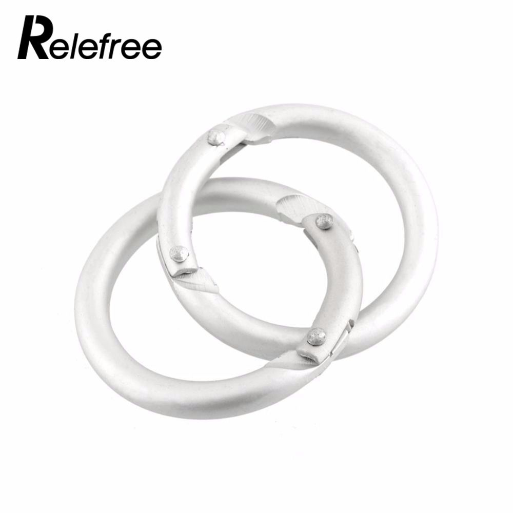 10Pcs Silver Circle Round Carabiner O-Ring Buckles Camping Spring Snap Clip Hook Keychain Climbing Hiking Outdoor Useful