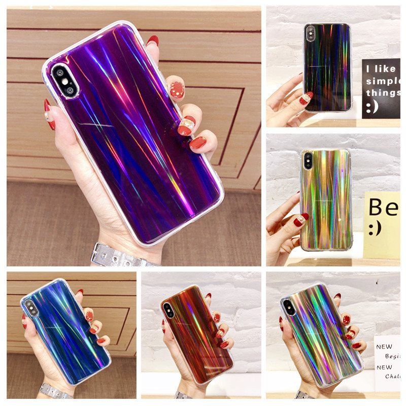 Fashion Laser Soft TPU Phone Case For Samsung Galaxy S6 S7 Edge S8 S9 PIus A3 A5 A7 J3 J5 J7 2016 2017 A6 A8 2018 Cover Cases
