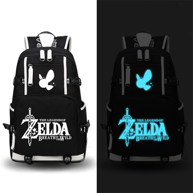 High Quality 2017 Game The Legend Of Zelda: Breath Of The Wild Printing Zelda Backpack Canvas School Bags Travel Laptop Backpack #2