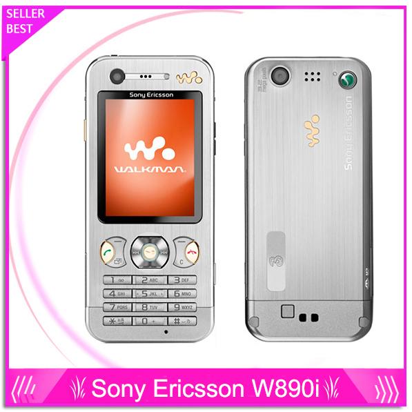 Teléfono original sony ericsson w890i teléfono delgado w890 teléfonos móviles de audio y reproductor de vídeo reproductor de mp3 mp4 envío gratis
