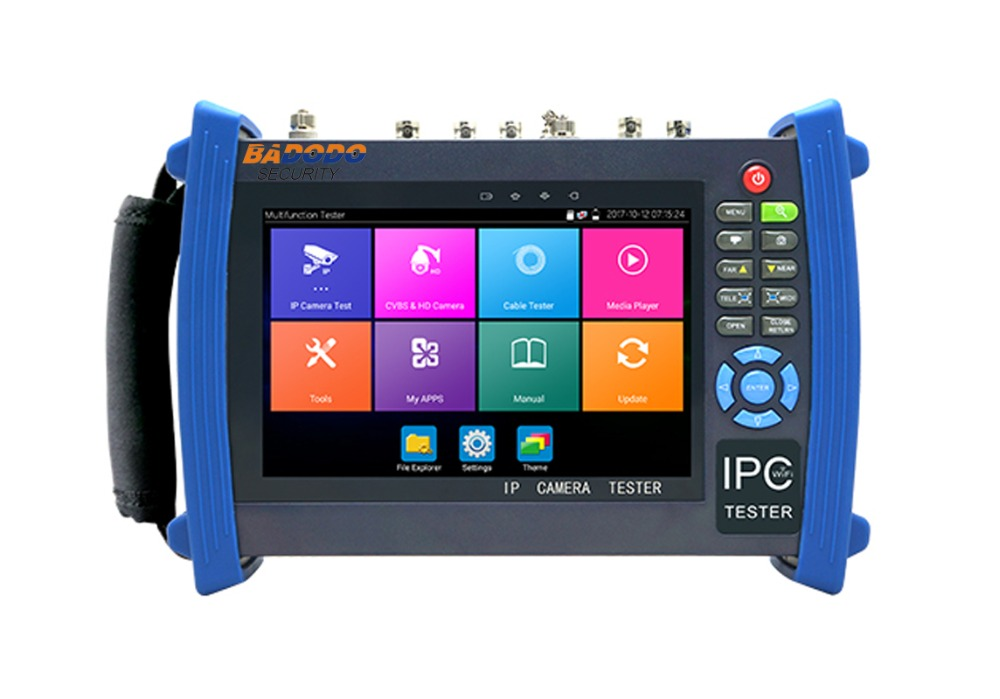7 Android system CCTV Tester with WIFI,Browser,POE,cable test, Testing Equipment, Testing Monitor with AHD HDCVI TVI options image
