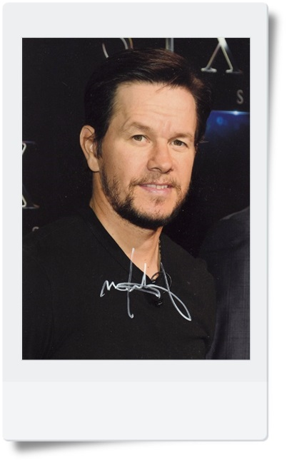 signed Mark Wahlberg autographed photo 7 inches hot male actor freeshipping 082017C the plural actor