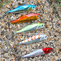 5 colors 24g 7.5cm winter VIB fishing lure hard bait lead inside ice sea fishing tackle diving swivel jig wobbler lure