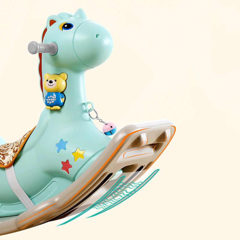 Детская сияющая лошадка-качалка, детская комната, игрушки для игр на открытом воздухе/в помещении для детей, От 1 до 6 лет, толстое пластиковое кресло