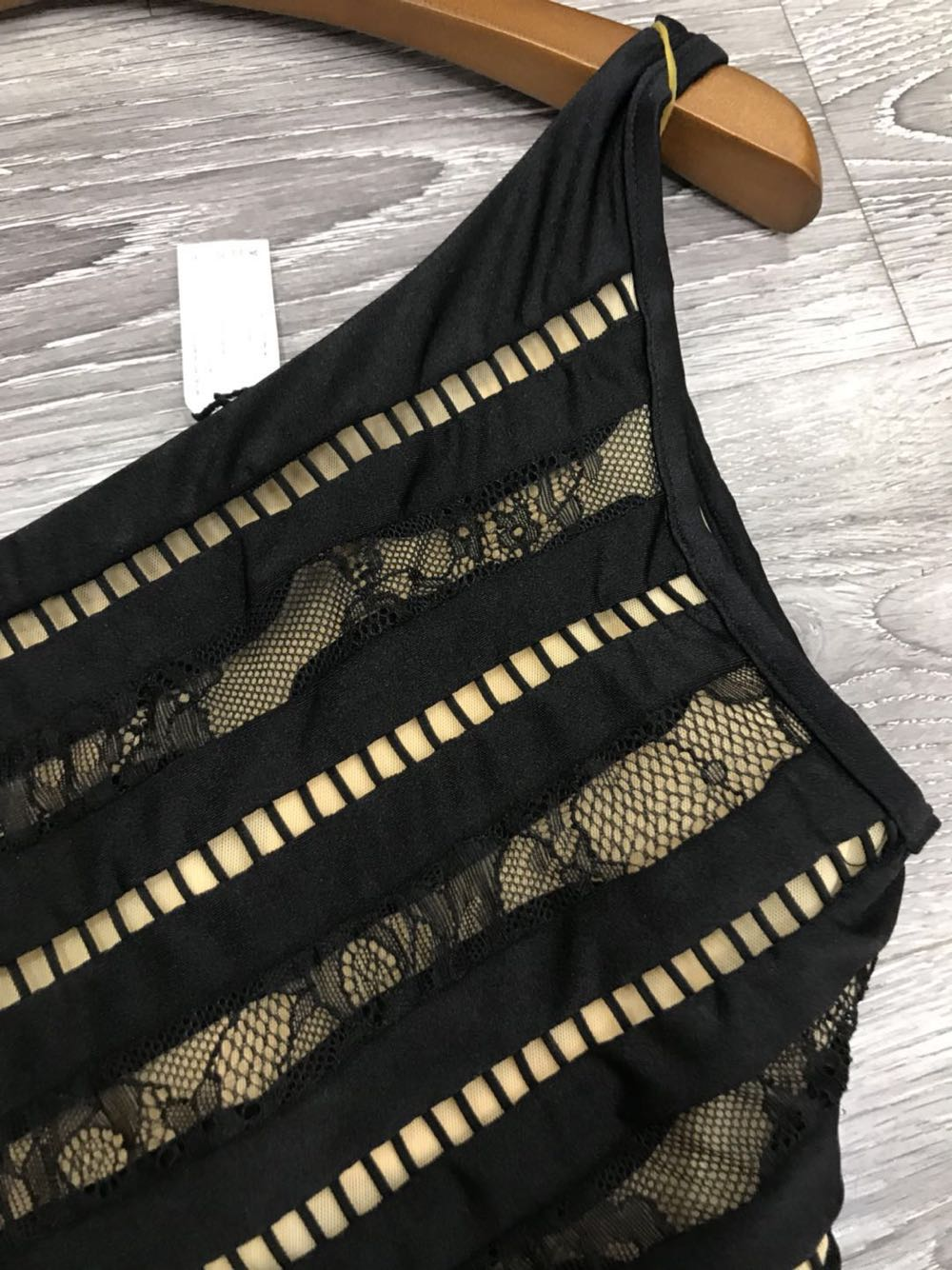 One Shoulder Lace Backless Bodysuit Women Hollow Out Sleeveless Black Sexy Summer Swimsuit Bodycon