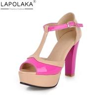 LAPOLAKA Hot Sale Brand Wholesale Dropship Large Size 34 43 Women Shoes Woman High Heels Summer