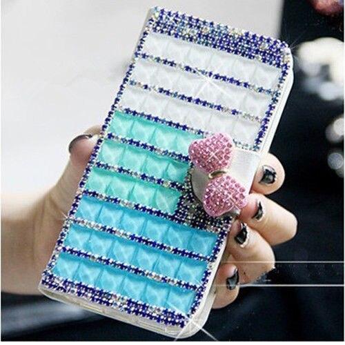 XINGDUO Plånbok Mode Style Bling Diamond Gem Case Cover Skin För - Reservdelar och tillbehör för mobiltelefoner