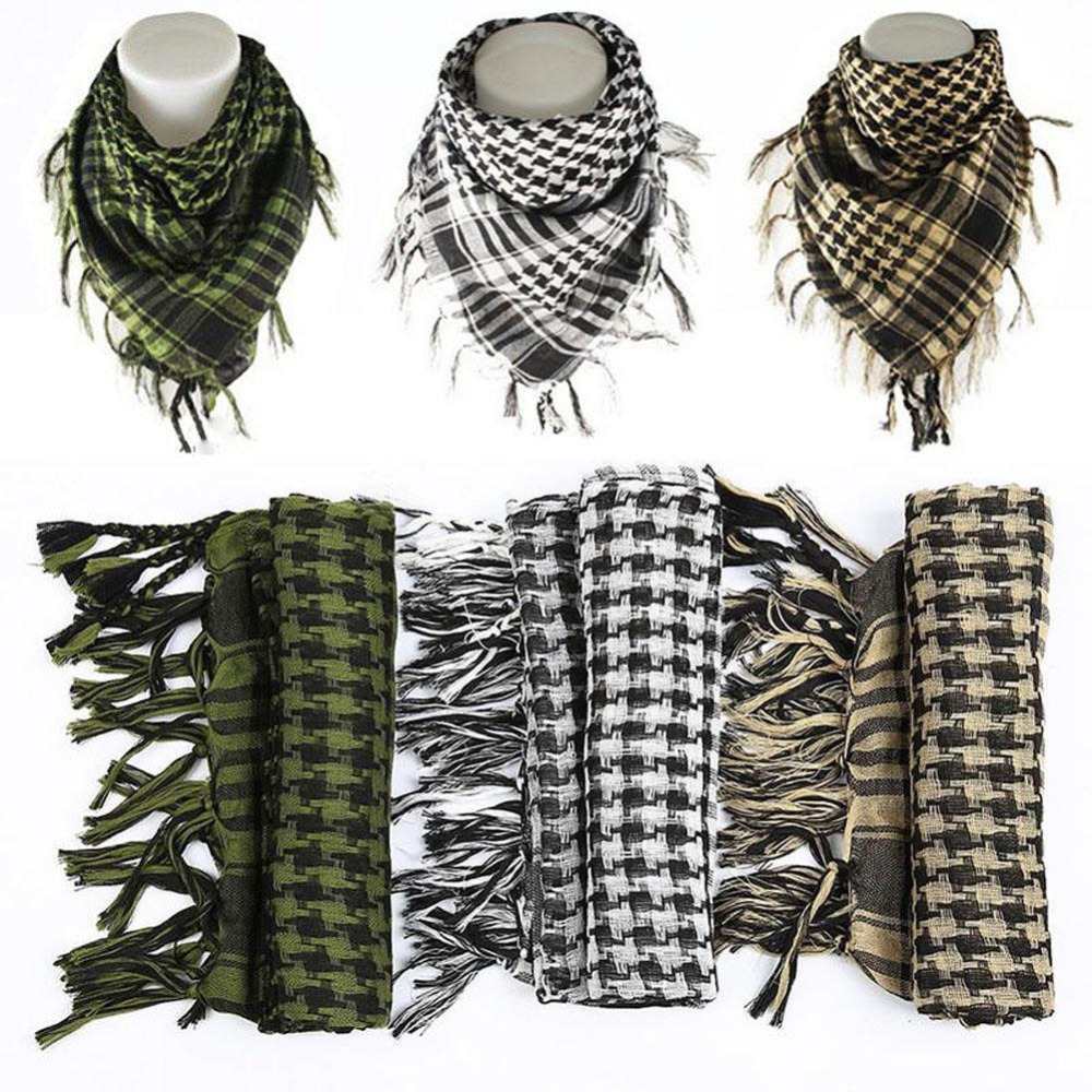 Scarves Hijab Tactical Winter Muslim 100%Cotton Shemagh Desert Men Arab Military Thick