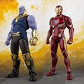 2018 NEW SHF S.H.Figuarts Thanos Iron Man MK50 PVC Action Figure ACNG Model Cosmic Marvels Avengers 3 Infinity War Toys Dolls