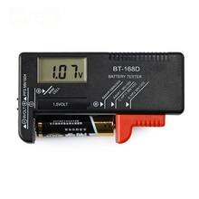 BT 168D Portable Digital Battery Tester Black Digital Battery Power Measuring Instrument The Function Battery Tester