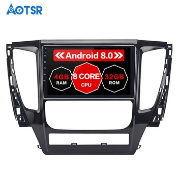 9 Android 8.0 Car GPS Radio Player for Mitsubishi Pajero Sport 2017 with Octa Core 4GB+32GB Auto Stereo Multimedia PX5 image
