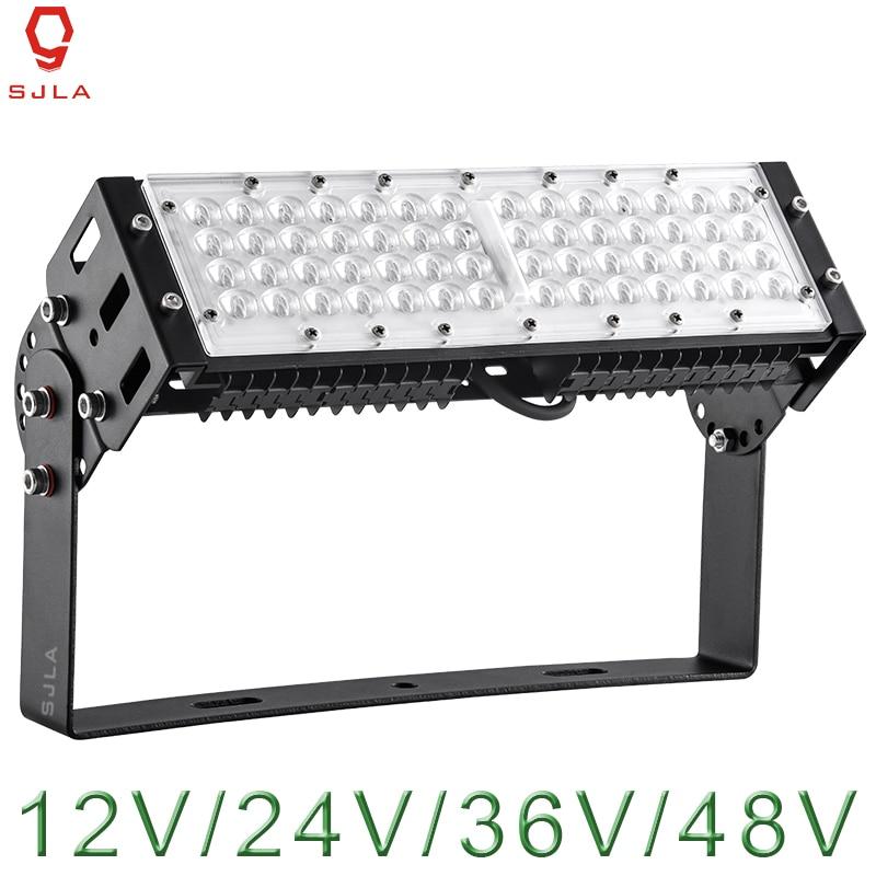 все цены на Outdoor Lighting Waterproof IP65 Warranty 5 Years 50W 100W 150W 200W 12V 24V 36V 48V For Square Street Powerful LED Spotlight онлайн