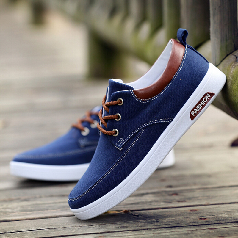 ФОТО  2017 new arrival men's canvas shoes low tide casual shoe male flat breathable high quality sapatos masculinos free shipping