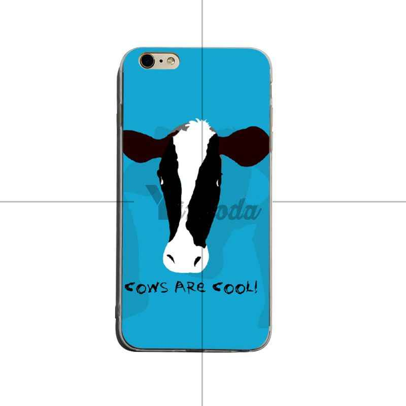 Yinuoda noir et blanc vache coloré mignon téléphone accessoires étui pour iphone 6 plus 6 s 7 plus 8 plus X XS XR Coque